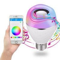 LED Bluetooth Light Bulb Speaker, Multi-Connected Music Bulbs, 8W E26/E27 RGB + Warm White Color Changing Lamp with APP Control - Play Music Synchronously(1 Pack)