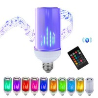 Bluetooth Light Bulb Speaker | 8-Watts New GEN-Flow LED RGB Color Changing Music Lamp | Superior Stereo Sound, Upside-Down Mode | Updated Remote Control