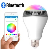 LED Smart Light Bulb with Bluetooth Speaker and APP Control RGB Multi Color Changing Dimmable