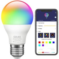 Smart Light Bulb 2.4G(Not 5G), WiFi LED RGBCW Color Changing Bulbs 2700K-6500K with White Lights Work with Alexa, Echo, Google Home and IFTTT(No Hub Required), A19 E26/E27 60W Equivalent