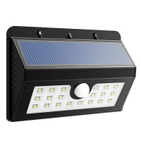 3-in-1 LED Solar Lights with 20 Bright Nodes,Wireless Weatherproof Security Solar Light Motion Sensor Lamp and 3 Intelligent Modes