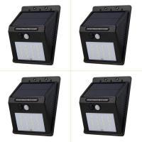 4 Pack LED Solar Lights with 20 Bright Nodes,Wireless Weatherproof Security Solar Light Motion Sensor Lamp and 3 Intelligent Modes Designed by Wegner