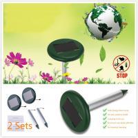 Solar Mole Repeller, Solar Sonic Rodent Repeller for Garden, Farm, Orchards, Repel Mole Gopher, Waterproof Design, Solar Power Drived,